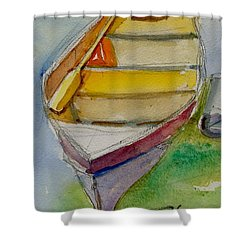 One Oar Gone Shower Curtain by Ron Wilson