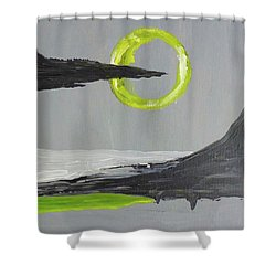 Shower Curtain featuring the painting One Of Those Days by Victoria Lakes