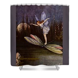One On A Large Dragon Fly Shower Curtain by Peter Gumaer Ogden