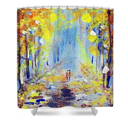 One On One Shower Curtain by Raymond Doward