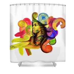 One Part 1 Shower Curtain by Mo T