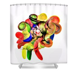 One Part 3 Shower Curtain by Mo T