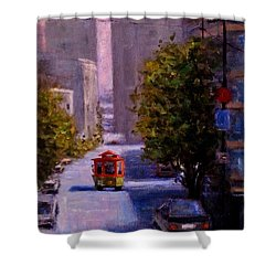 One Quiet Afternoon In San Francisco.. Shower Curtain by Cristina Mihailescu