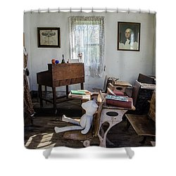 Shower Curtain featuring the photograph One Room Schoolhouse by Ann Bridges