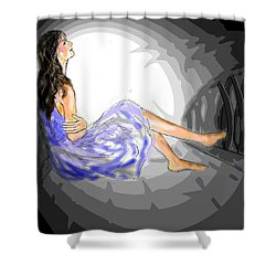 One Sided Dreams Shower Curtain