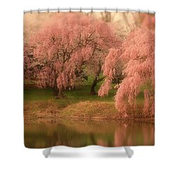 Shower Curtain featuring the photograph One Spring Day - Holmdel Park by Angie Tirado