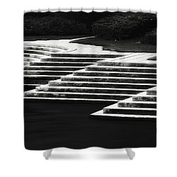 Shower Curtain featuring the photograph One Step At A Time by Eduard Moldoveanu