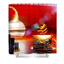 One Step Beyound Shower Curtain