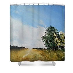 One Summers Day Oil Painting Shower Curtain