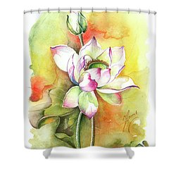 Shower Curtain featuring the painting One Sunny Day by Anna Ewa Miarczynska