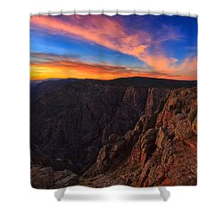 On The Edge Shower Curtain by Rick Furmanek