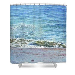 One Wave Shower Curtain by Martin Davey