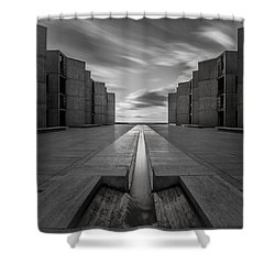 One Way Shower Curtain by Ryan Weddle