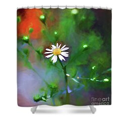 Shower Curtain featuring the photograph One White Flower by Kerri Farley
