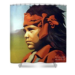 One Who Soars With The Hawk Shower Curtain