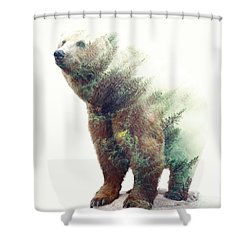One With Nature V2 Shower Curtain