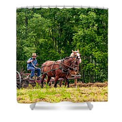 One With The Land Shower Curtain by Steve Harrington