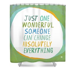 Shower Curtain featuring the painting One Wonderful Someone by Lisa Weedn