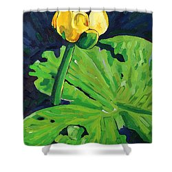 One Yellow Lily Shower Curtain