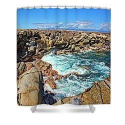 Oneloa-honokahua Bay Shower Curtain by Marcia Colelli