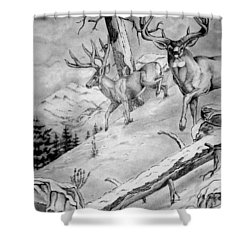 Ones That Got Away Shower Curtain by Jimmy Smith
