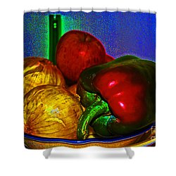 Onions Apples Pepper Shower Curtain