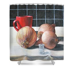 Onions Shower Curtain by Tim Johnson