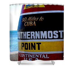 Only 90 Miles To Cuba Shower Curtain