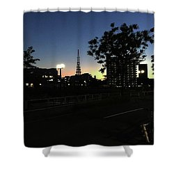 Dusk Time Shower Curtain