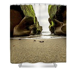 Only At Low Tide Shower Curtain by Ryan Weddle
