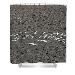 Only Leave Footprints Shower Curtain