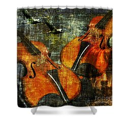 Only Music Heals A Broken Heart Shower Curtain