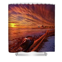 Shower Curtain featuring the photograph Only This Moment In Between Before And After by Phil Koch