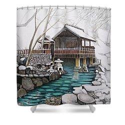 Onsen Shower Curtain