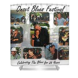 Onset Celebrates 25 Years Of Blues Shower Curtain
