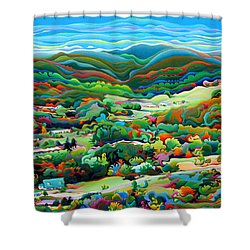 Onset Of The Appalachian Wonderfall Shower Curtain
