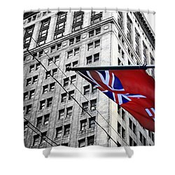 Ontario Flag Shower Curtain
