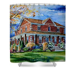 Shower Curtain featuring the painting Ontario House Portrait  by Hanne Lore Koehler