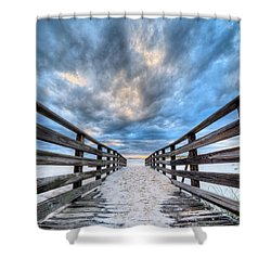 Shower Curtain featuring the photograph Onto The Beaches Of Gulf Shores by JC Findley