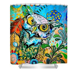 Oogke Owl Shower Curtain