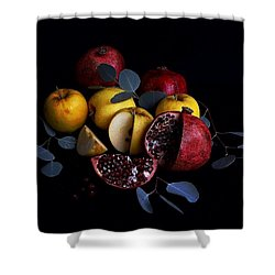 Opal Apples And Pomegranates Shower Curtain