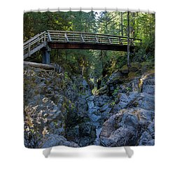 Opal Creek Bridge Shower Curtain