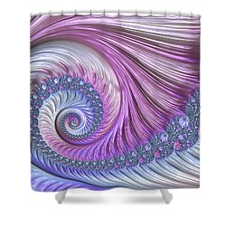 Opal Nautilus Shower Curtain by Susan Maxwell Schmidt