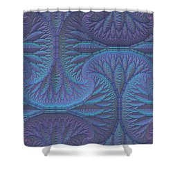 Shower Curtain featuring the digital art Opalescence by Lyle Hatch