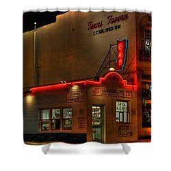 Open All Nite-texas Tavern Shower Curtain