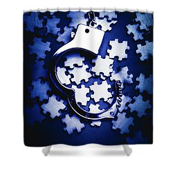 Open Case Mystery Shower Curtain