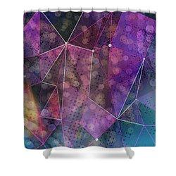 Open Geometric Shower Curtain