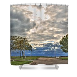 Open Heavens  Shower Curtain