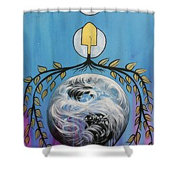 Shower Curtain featuring the painting Open Invitation by Nathan Rhoads