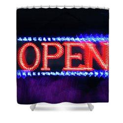 Open -  Shower Curtain
